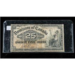 Dominion of Canada 1900 25 Cent note. Boville