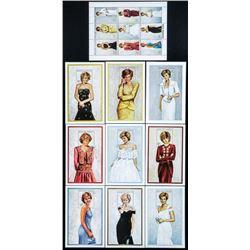 Diana Tribute Stamp Sheets, Mint (ER)