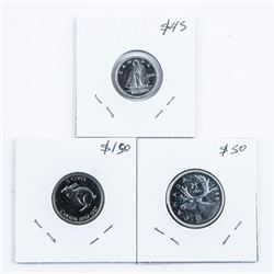 Group of (3) Canada Silver 1966 - 10 cent and  25 cent, 1967 x 25 cent. PL67 and SP65