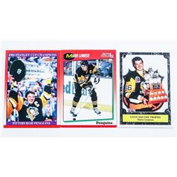 Group of (3) Mario Lemieux Cards