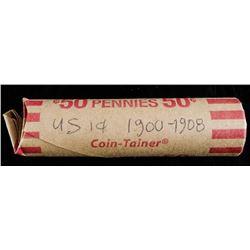 Roll USA Indian Head Pennies 1900-1908