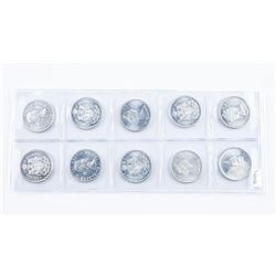 Group of (10) BU Silver Canada 50 cents