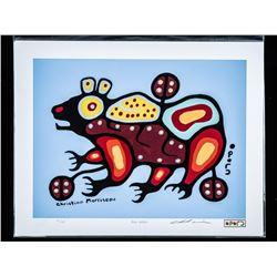 "Christian Morrisseau (1969-) LE/600 Giclee  'Bear Walker' 11x14"" Unframed. Hand Signed"