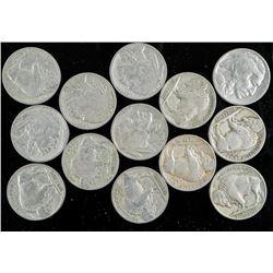 Group of (13) 1928 USA Indian Head/Buffalo 5  cent