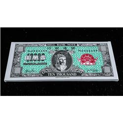 Hell Bank Note Sealed, Bundle Ten Thousand  Dollar Note