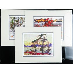 "Group of (3) Tom Thomson (1877-1917) Giclee's  11x14"" Unframed LE Matted"