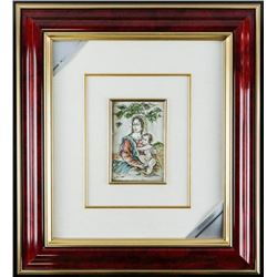 ITALY 925 Sterling Silver Picture Framed  (sxr) 17x20""