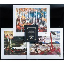 Tom Thomson (1877-1917) 'Phantom of  Algonquin' 3 Giclee Folio, LE Images  'Northern Icon Suite II'