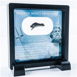 Dolphin Money from Olbia 4 and 5th century,  Bronze Dolphin in Display