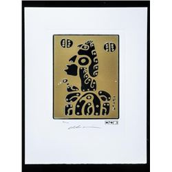 "Christian Morrisseau (1969-) Elements  Collection 'Father and Son' Silver on Gold  LE/100 11x14"" Unf"