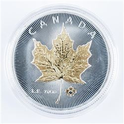 Canada Maple Leaf 2020 Medallion 24kt Gold  Plated and Silver Plated LE/1000