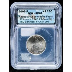 2005P USA 25 Cent SP69 ICG First Strike