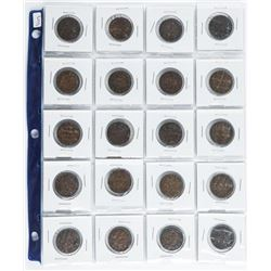 Group of (20) CANADA Large Cents