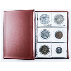 Coin Stock Book, 18 Coins Includes Silver