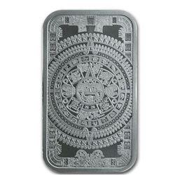AZTEC CALENDAR .999 Fine Silver Collector Bar  1oz