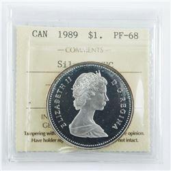 1989 Canada Silver Dollar PF-68 ICCS