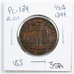 PC1B4 1844 1/2 Cent Token VG8 BR527