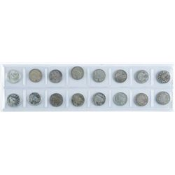 Group of (16) Silver Canada 10 Cents - Early  Years