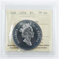 1994 Canada Silver Dollar UHC Proof PF-66