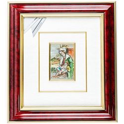 ITALY 925 Sterling Silver Framed Wall Plaque  18x20 Boxed