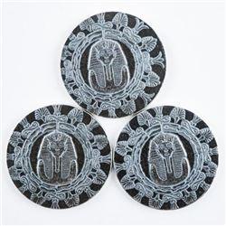 Egyptian King Tut Round .999 Fine Silver