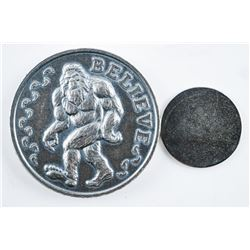 BIGFOOT .999 Fine Silver Magnetic Round  BELIEVE