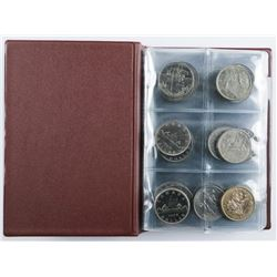 Collection of (60) CANADA Nickel Dollars -  Stock Book