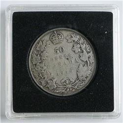 1916 Silver Canada 50 Cent