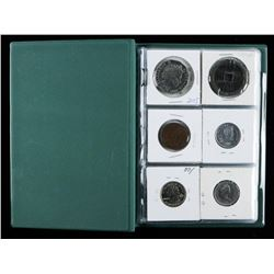 Coin Stock Book with 18 Coins, Medals start  Collection