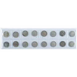 Group of (16) Canada Silver Coins - 10 Cents