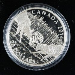 White Tailed Deer .999 Fine Silver $20.00  Coin 1 Troy Ounce