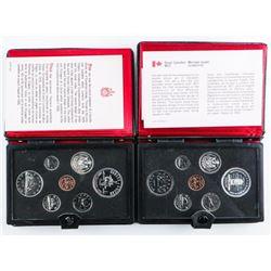 Lot (2) RCM 1975-1977 Specimen Coin Set,  Leather Case
