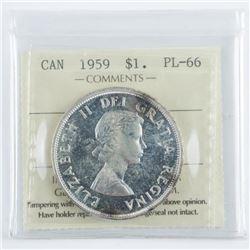 1959 Canada Silver Dollar PL66 ICCS