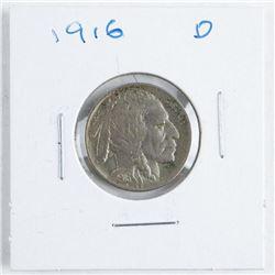 1916D US Indian/Buffalo 5 Cents