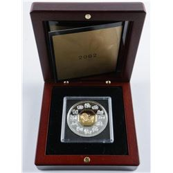 RCM 2002 Lunar Coin 925 Sterling Silver with  Gold Plated Cameo LE/C.O.A. 'Year of the  Horse'