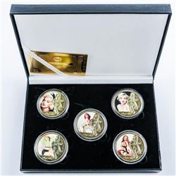 Marilyn Monroe (5) Medallion Collection,  Nostalgia Images 24kt Gold Plated