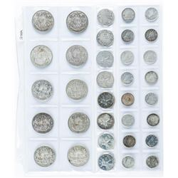 CANADA Coin Collection - All Silver Years, 34  coins