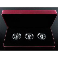 RCM Royalty Vignette Set 3 x 925 Sterling  Silver $15.00 Coins Prince of Wales
