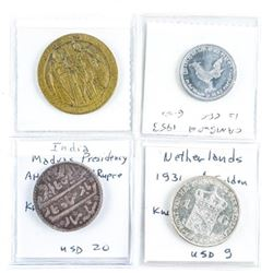 Estate Group (4) World Coins: Netherlands,  Indian and Cambodia