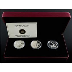 RCM 2013 - Birth of the Royal Baby Coin Set 3  x .999 Fine Silver $20.00 Coins. Mintage  7500 with C
