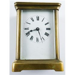 Vintage Carriage Mantle Clock 'Key Wind'  Working (OIE)
