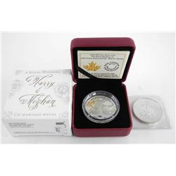 Lot (2) Royal Wedding Coin and Medallion  .9999 Fine Silver $20.00 and June 1983 Silver  Medal