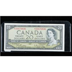 Bank of CANADA 1954 20.00 Modified Portrait  (VE) *Replacement B/R UNC BC41bA Scarce.  (MKRR)