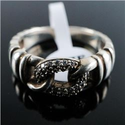 925 Silver Ring Size 7 w Set with Swarovski  Elements