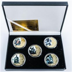 Batman Collection - 24kt Gold Plated  Medallions with Colour. Limited Edition with  COA.