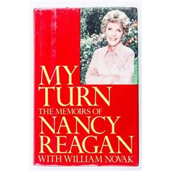 MY TURN - Memoirs of Nancy Reagan Signed in  Sept 1992 (MXR)
