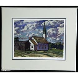 "A.J. Casson (1898-1992) Giclee Church at  Thistletown 11x14"" Scarce # 1 Strike Matted"