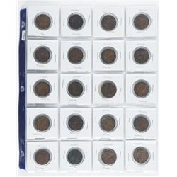 Group of (20) Canada Large Cent Coins
