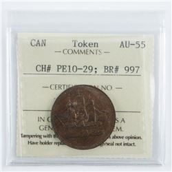 Canada Token AU55. CH#PE10-29 BR#997