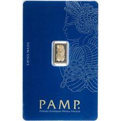 Suisse .999 Fine Pure 24kt Gold Bar, Sealed,  Serialized